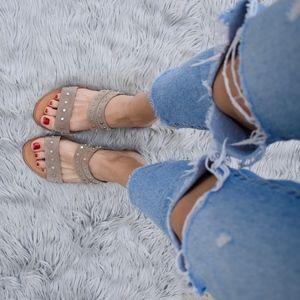 (DOLCE VITA) Pacey Studded Slide Sandal